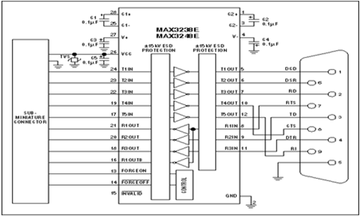 MAX-232 with Serial Cable