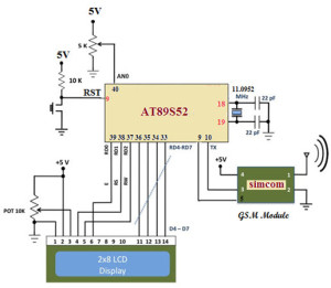 circuit diagram of gsm module with the microcontroller buy rh efxkits co uk schematic diagram gsm module gsm module circuit diagram data sheet