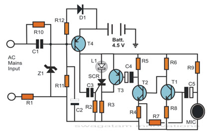 Simple EectronicProject Circuit