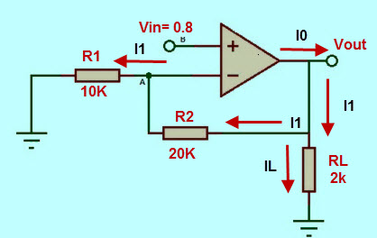 Example of non Inverting Amplifier