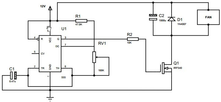 Pulse Width Modulation Circuit Using 555 Timer
